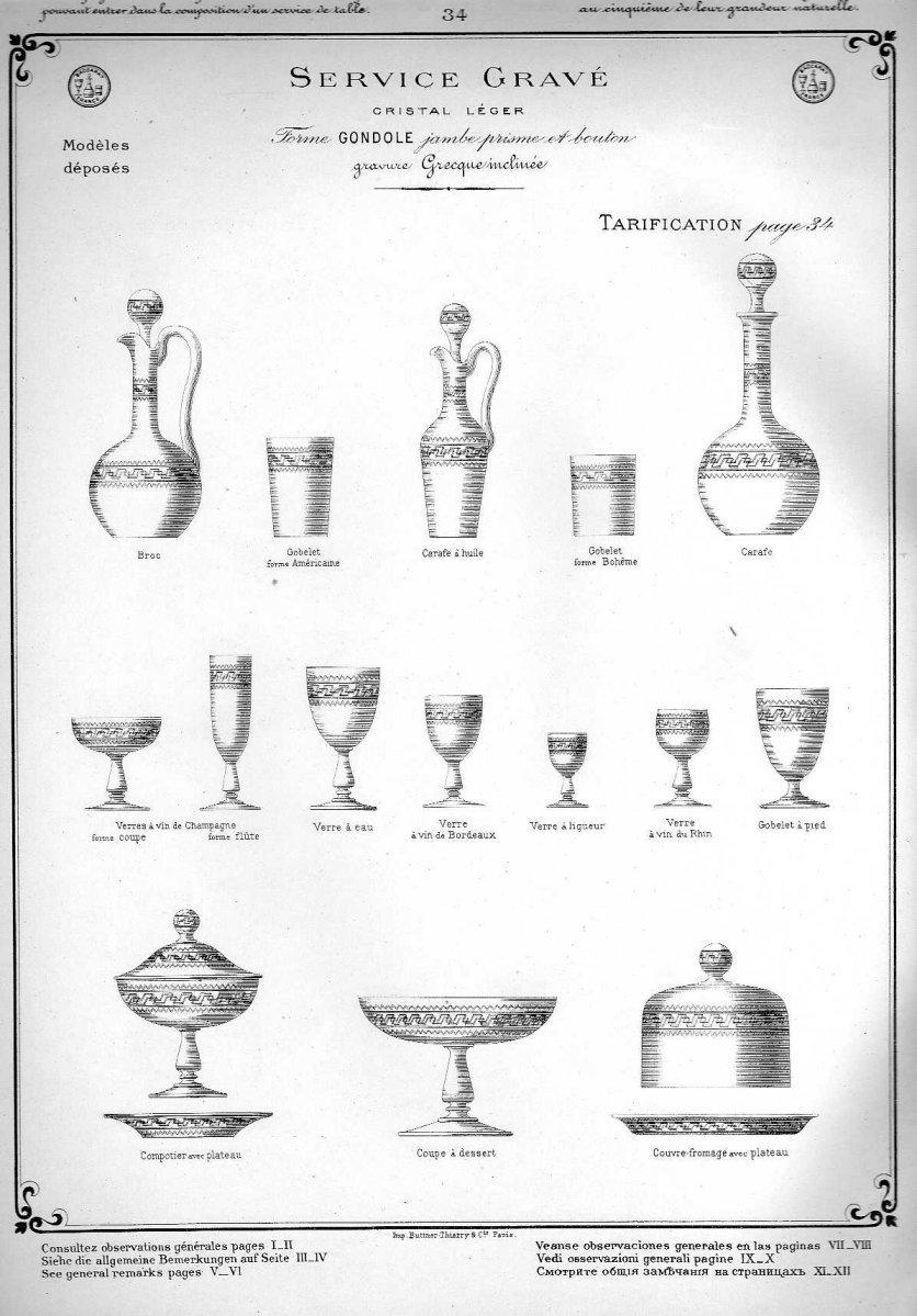 Cristal de baccarat catalogue 1907 1908 167 pages a telecharger - Cristal st louis ancien ...