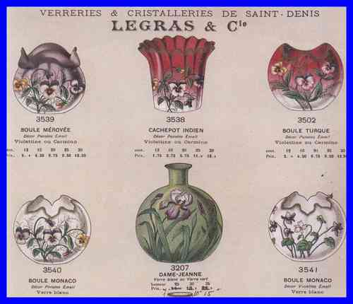 CATALOGUE LEGRAS 1899 CRISTAL PANTIN et SAINT DENIS        A TELECHARGER