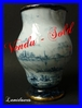 EMILE GALLE NANCY RARE VASE CERAMIQUE PEINT MAIN 1880 - 1882
