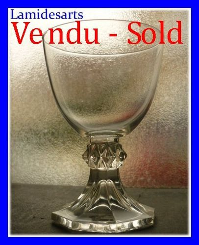VSL VAL SAINT LAMBERT CRYSTAL YALE PLAIN WATER GLASS 10,7 cm
