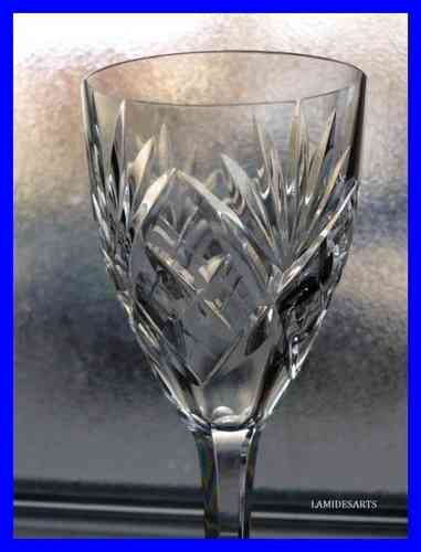 SAINT LOUIS CHANTILLY 6 VERRES CRISTAL TAILLE  14 cm       stock: 2 x 6