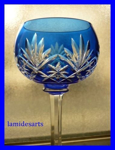 SAINT LOUIS MASSENET CRYSTAL HOCK WINE GLASS  Stock: 2