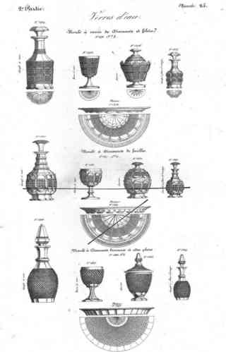 CRISTAL DE BACCARAT ET DE SAINT LOUIS CATALOGUE COMMUN 1840   A TELECHARGER