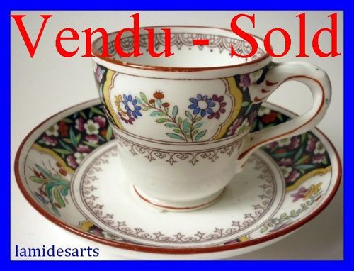 MINTON porcelain cup and saucer n° B616