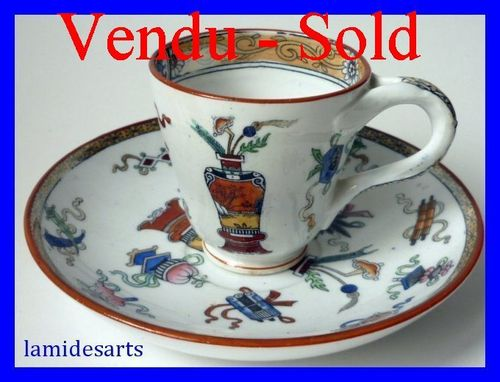 MINTON porcelain cup and saucer n° 6650