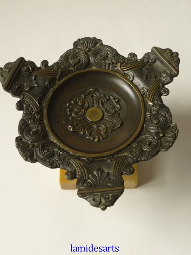 BRONZE RING STAND BOWL 1850 - 1870