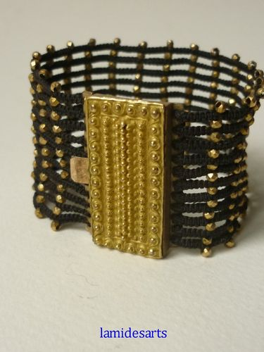 1830's  Antique Mourning Hair Bracelet