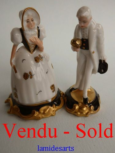 PAIR OF ROSENTHAL PORCELAIN MINIATURE FIGURINES