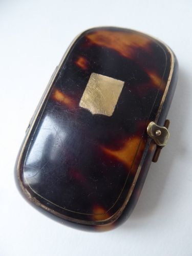 1850 's FRENCH TORTOISE SHELL PURSE