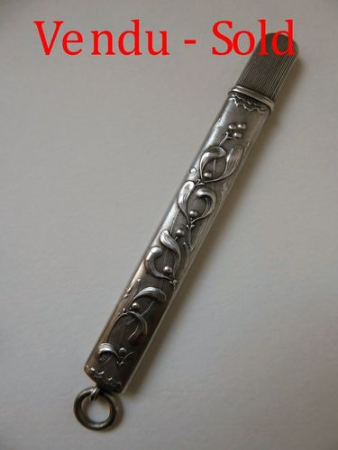 Art Nouveau French Sterling silver pencil holder 1880 - 1910