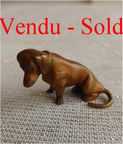 Cold Painted Vienna Bronze Dog Dachshund 1880 - 1900