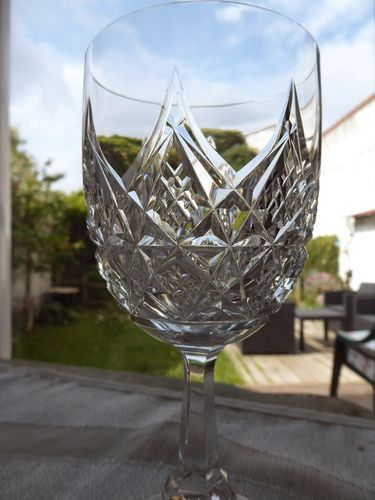 BACCARAT COLBERT CRYSTAL WATER GLASS 17,2 cm  signed  stock: 3