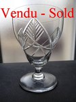 1930's BACCARAT TIMGAD CRYSTAL ART DECO WINE GLASS  9,3 cm  stock: 0