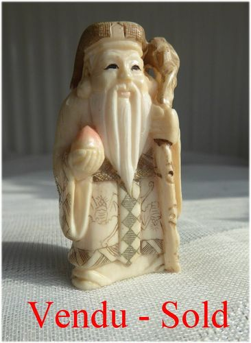 ANTIQUE JAPANESE IVORY NETSUKE Meiji period  Signed 1900 - 1910
