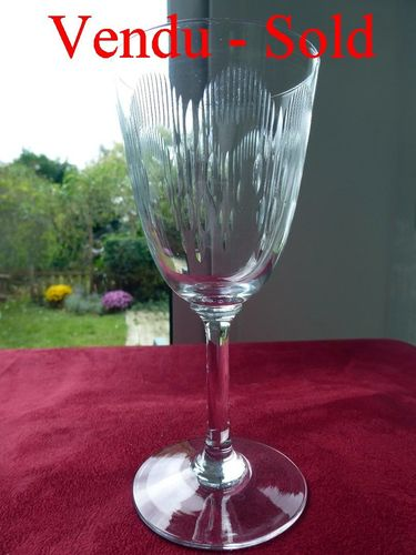 BACCARAT MOLIERE CRYSTAL  water glass  1916  16,8 cm  stock: 0