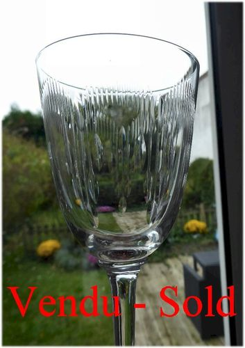 BACCARAT MOLIERE CRYSTAL  wine glass  1916  14,5 cm  stock: 0